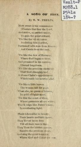 A Song of Zion (1844)