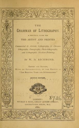 The grammar of lithography.