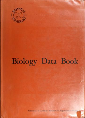Biology data book.