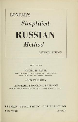 Download Simplified Russian method.