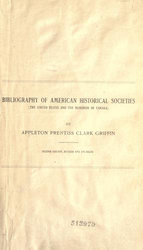 Download Bibliography of American historical societies