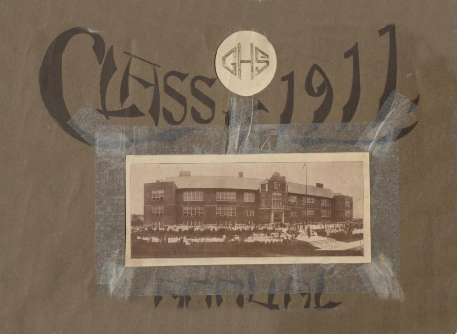 Cover image of Emerson High School's yearbook, The E