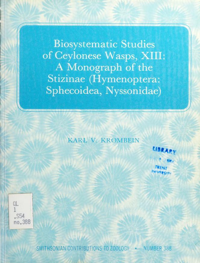 Biosystematic studies of Ceylonese wasps, XIII by Karl V. Krombein