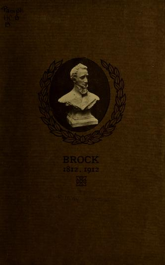 Brock, 1812-1912 by F. May Simpson