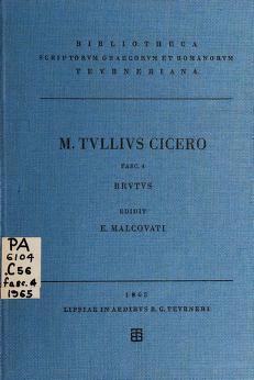Cover of: Brutus | Cicero