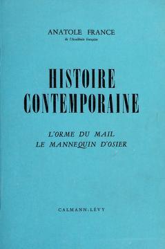 Cover of: Histoire contemporaine | Anatole France