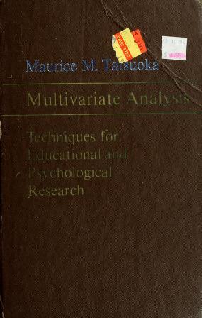Cover of: Multivariate analysis | Maurice M. Tatsuoka