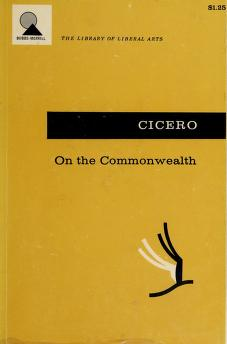 Cover of: On the Commonwealth | Cicero