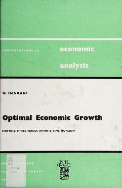 Cover of: Optimal economic growth | Morido Inagaki