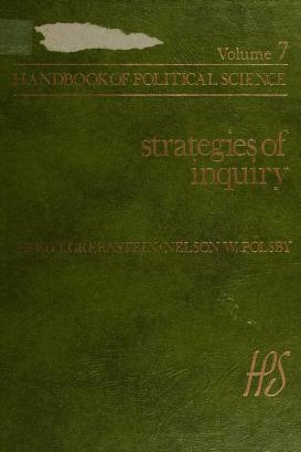 Cover of: Strategies of inquiry   edited by Fred I. Greenstein, Nelson W. Polsby.