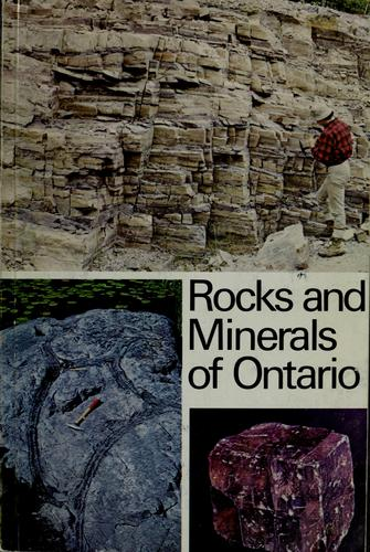 Rocks and minerals of Ontario by Donald F. Hewitt