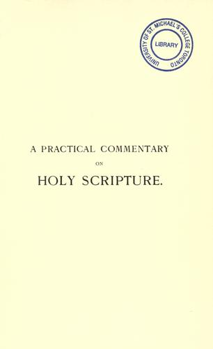 A practical commentary on Holy Scripture for the use of those who teach Bible history by Friedrich Justus Knecht
