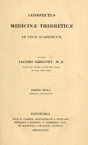 Conspectus medicinae theoreticae ad usum academicum